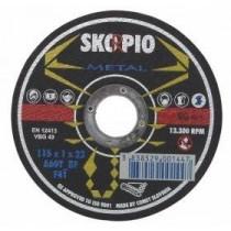 SKORPIO Standard Ø125 x 2,5 x 22,22 mm - na ocel