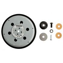 """Univerzální podložný talíř pro Abranet Ø150mm, závit 5/16"""" + M8, 57 děr, střední tvrdost"""