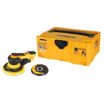 Elektrická bruska MIRKA DEROS 5650CV Ø125/150mm, zdvih 5,0mm, odsávání, plastový box